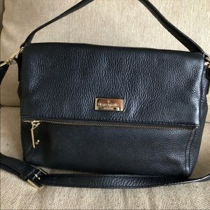 Kate spade black genuine leather purse